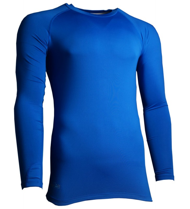 Mens – Precision Long Sleeve Compression Top  Royal