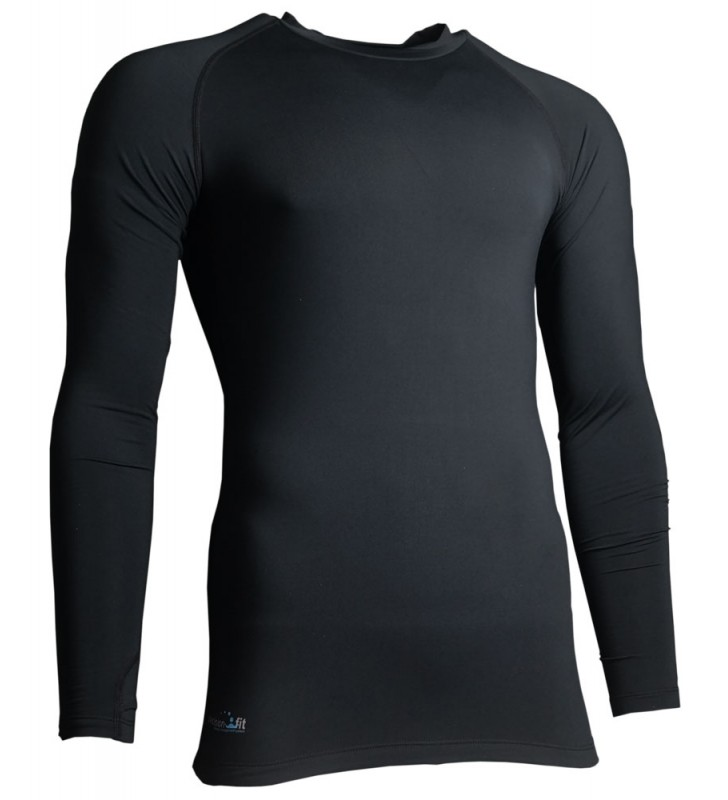 Kids – Precision Long Sleeve Compression Top Black