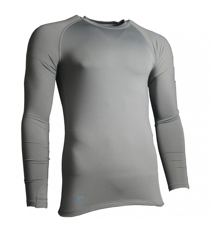Kids –Precision Long Sleeve Compression Top Grey