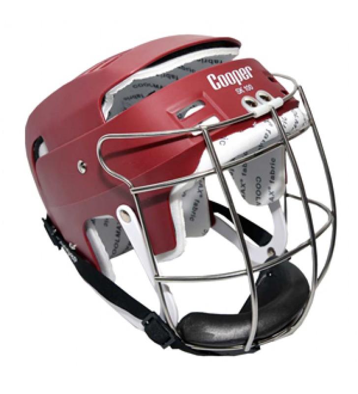 Junior - Cooper Sk100 Hurling Helmet Maroon